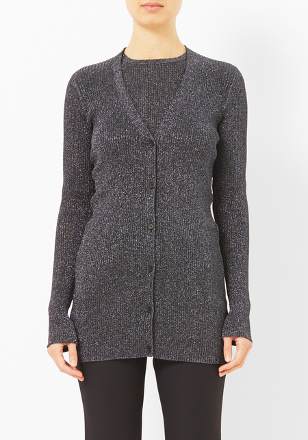 Opening Ceremony Charcoal Disco Rib Cardigan