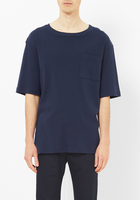 DDUGOFF Navy Kenneth Rib Tee
