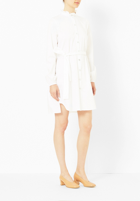 Opening Ceremony Ruffle Collar Button Down Dress