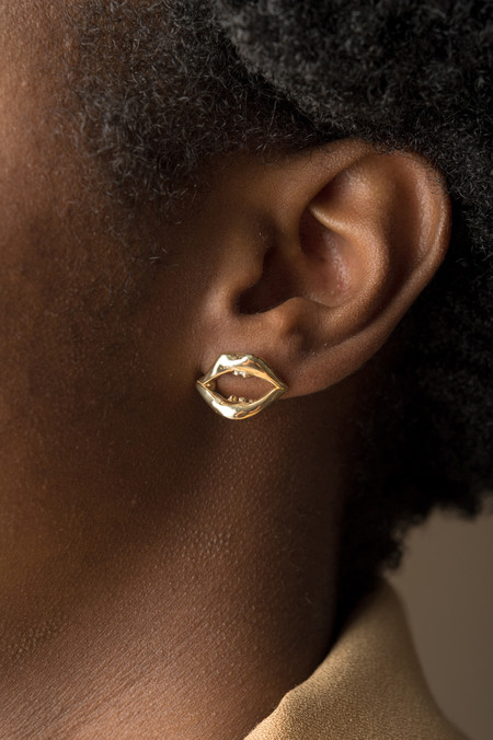 Odette New York Odette x BDB Mouth Studs In Brass