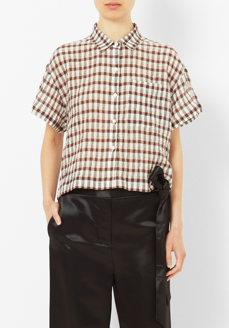 Nikki Chasin Corso Cropped Button Down