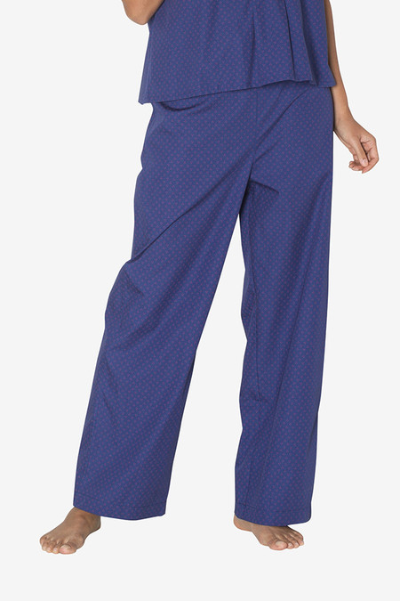 The Sleep Shirt Lounge Pant Navy with Red Clusters