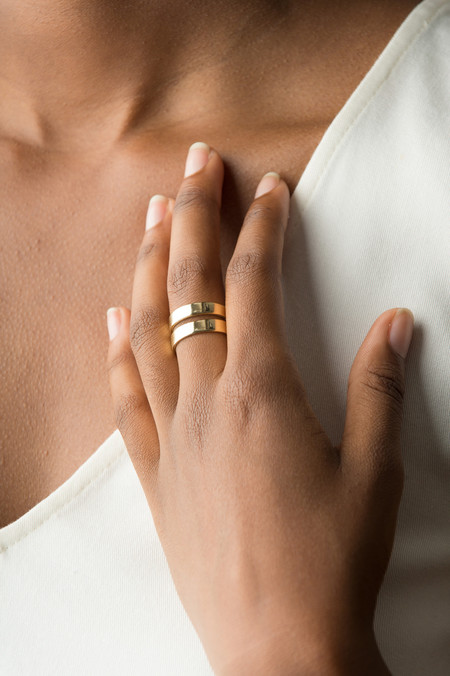 Odette New York Rohe Ring In Brass