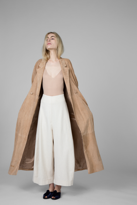 Ryan Roche Leather Trench Coat