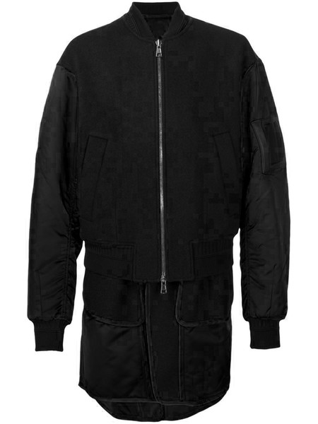 Juun.J Black Double Layer Bomber