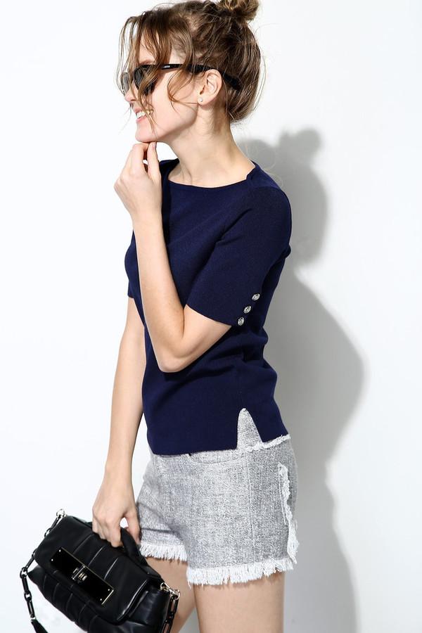 Few Moda Side Button Knit Top