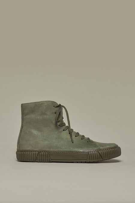 Both Paris Khaki Horse Leather Sneakers