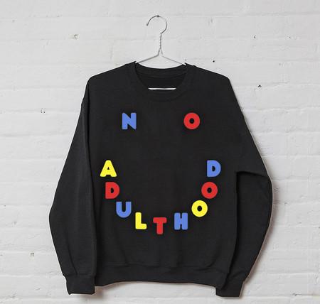PONY CREWNECK NO ADULTHOOD NOIR / BLACK CREWNECK