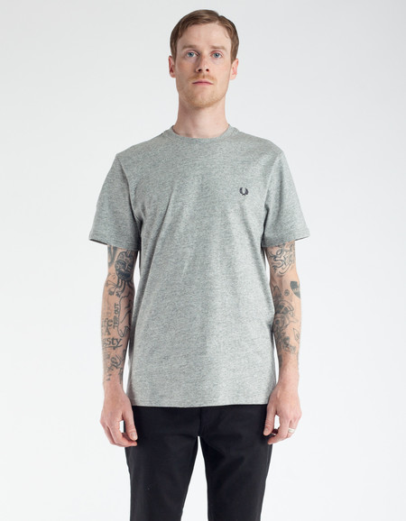 Fred Perry Crew Neck T-Shirt Vintage Steel