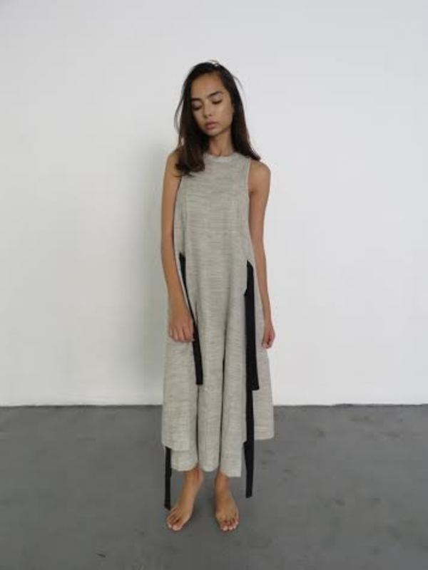 LUISA ET LA LUNA BARA DRESS - GRAY CRINKLE