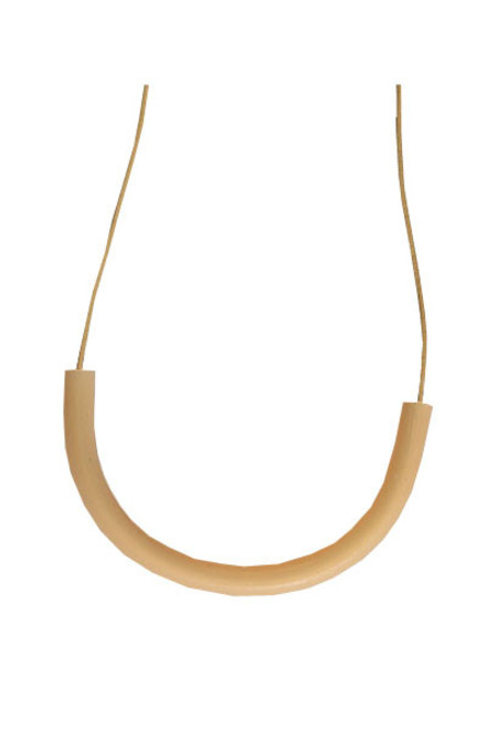 Surface Handmade Cylinder Necklace -Bone