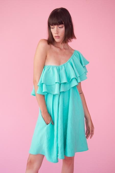Lindsey Thornburg Mint Madrid Ruffled Dress
