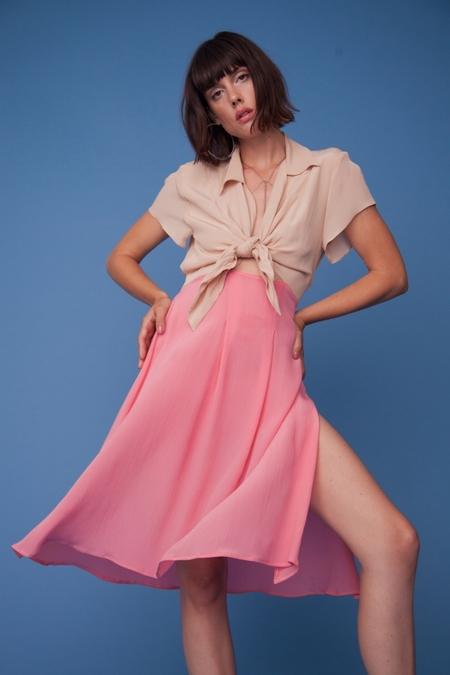 Lindsey Thornburg Contrast Pink Clark Dress
