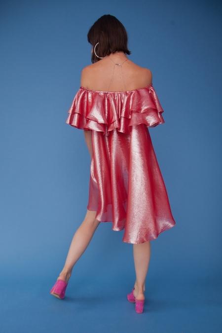 Lindsey Thornburg Cherry Madrid Ruffled Dress