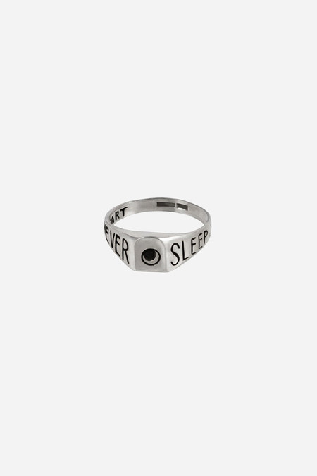 Nikolai Rose Sterling Silver Never Sleep Ring