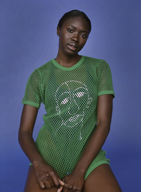William Okpo MAN FACE MESH TEE