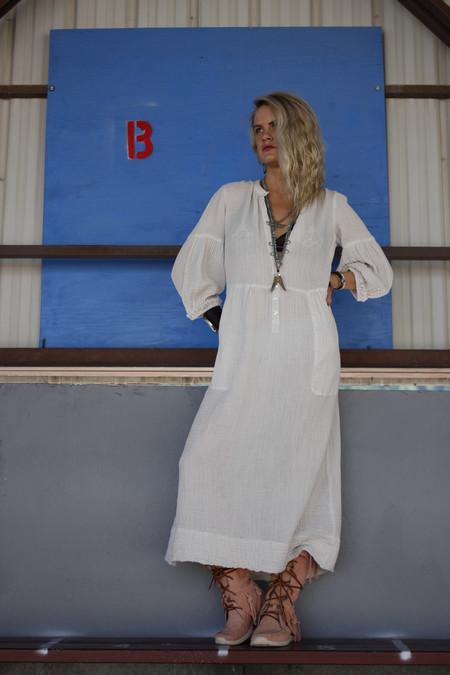 Raquel Allegra Gauze Peasant Dress