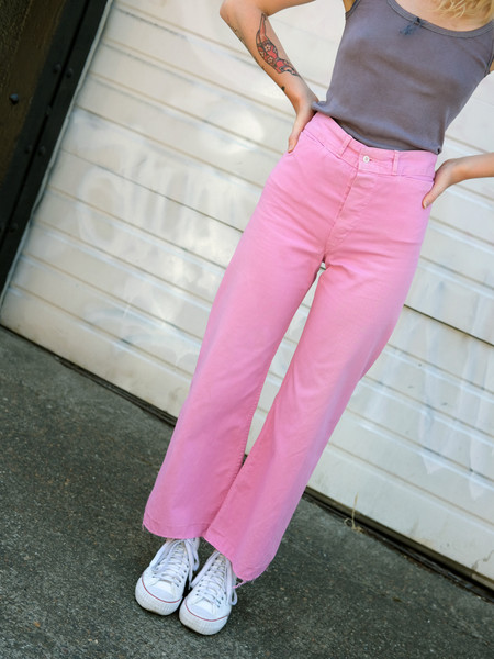 Shop Boswell Vintage PINK WIDE LEG SAILOR PANTS