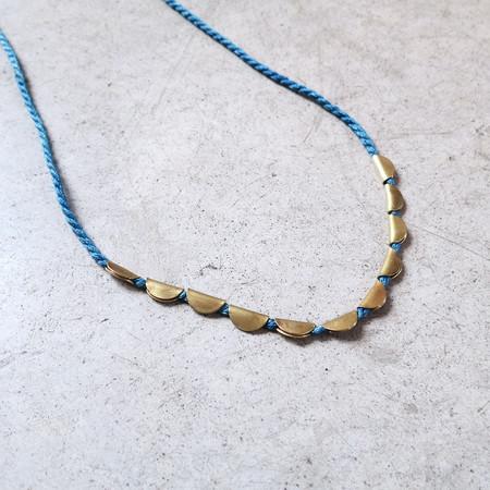 Takara Lunar Necklace in Indigo