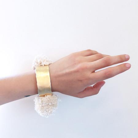 Takara Pom Pom Bracelet in Ivory