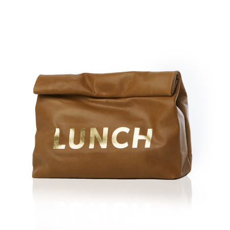 Marie Turnor The Lunch — Washed Brown, Gold Print