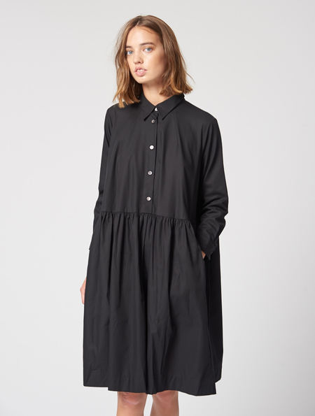 Peter Jensen Smock Shirt Dress Black