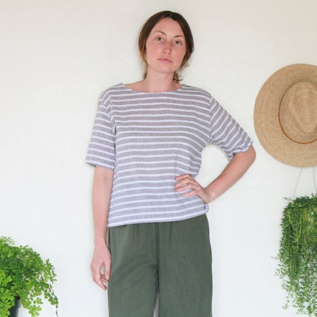 Me and Arrow Square Top - Grey Stripe