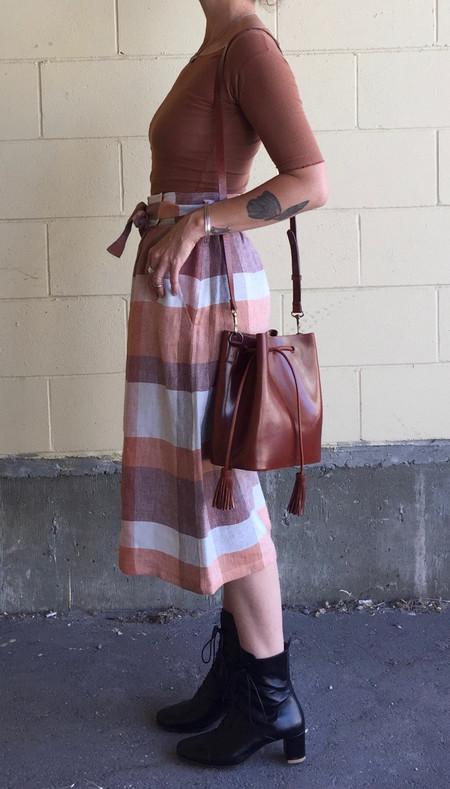 VereVerto Dita Bucket Handbag/Backpack - Brown