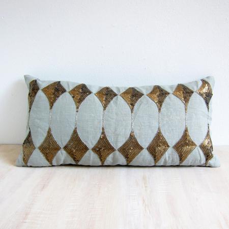 Day Birger Et Mikkelsen sequin harlequin lumbar cushion - agave