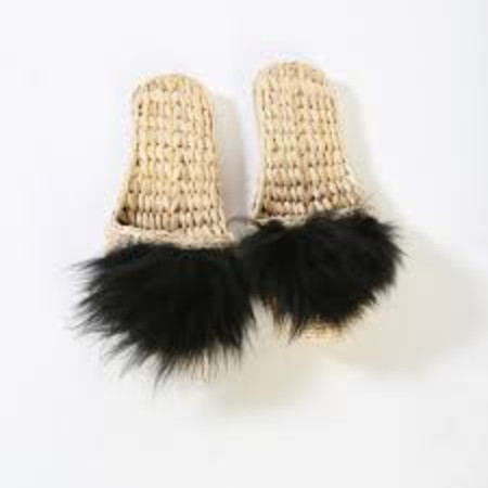 Folk Fortune Handwoven Slippers with Lamb Wool