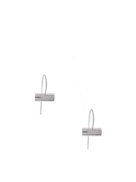 IGWT Cylinder Hook Earring - Silver