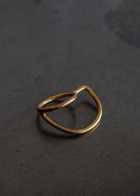 Aoko Su Axial Ring Gold