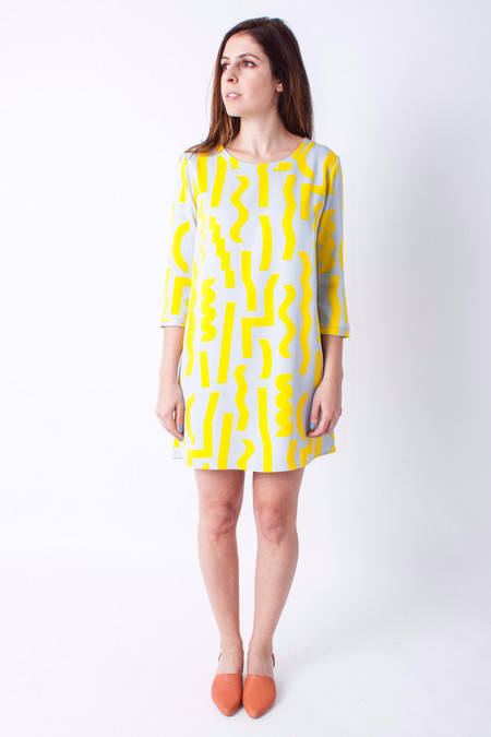 Dusen Dusen Three Quarter Dress - Slash Print