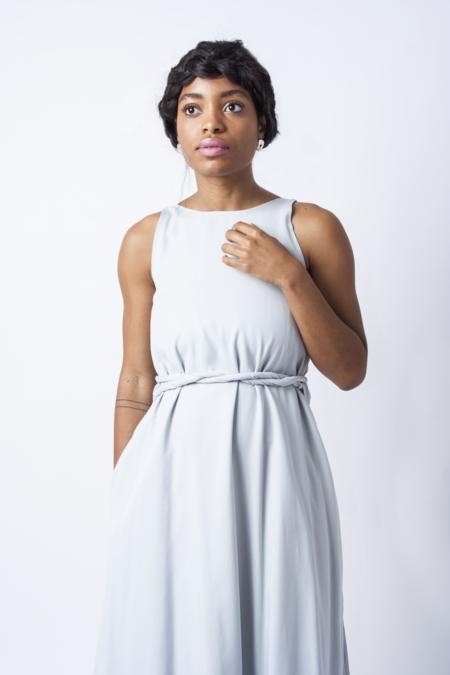 Hackwith Design House Wrap Dress - Pale Blue