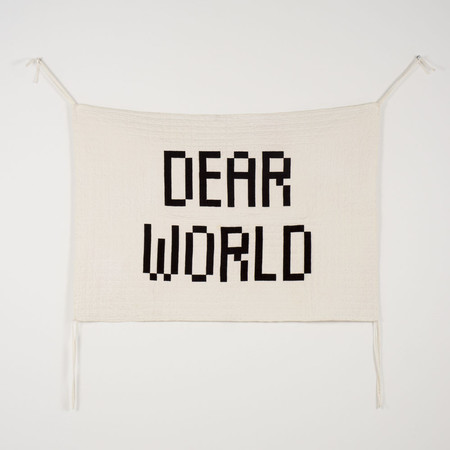 Kid's Bobo Choses Dear World Quilted Wall Hanging
