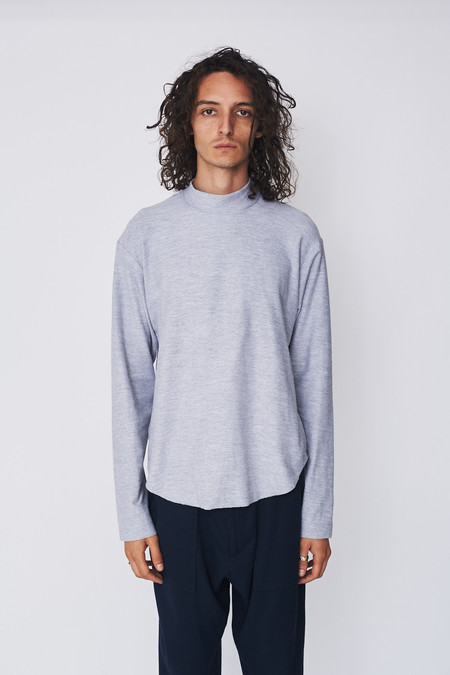 Assembly New York Cotton Reverse Terry Mockneck -  Dark Grey