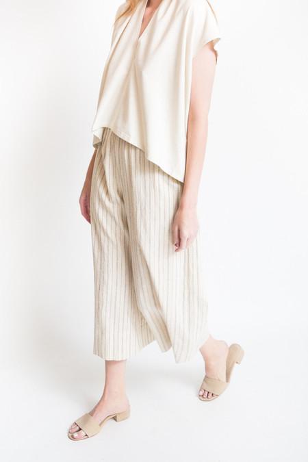 Lauren Winter Wide Pant - Ivory Stripe