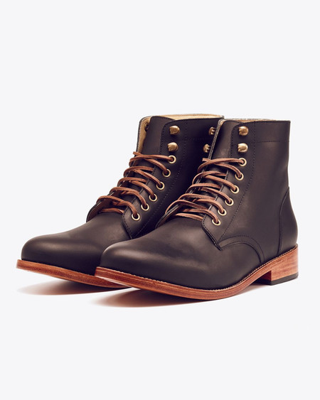 Men's Nisolo Lockwood Trench Boot Noir
