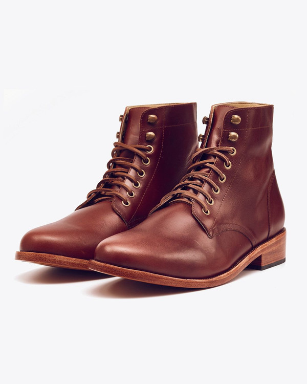 Nisolo Lockwood Trench Boot Brandy