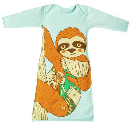 Kids Electrik Kidz Sloth Pocket Gown
