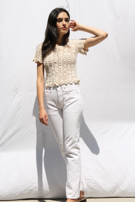 DUO NYC VINTAGE CROCHET KNIT TEE