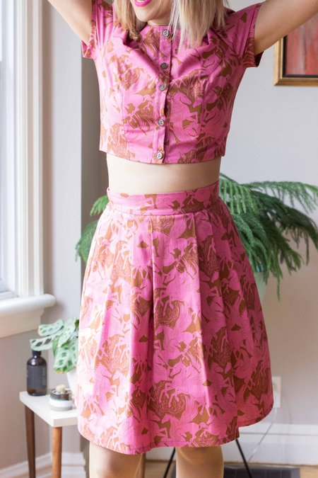 Birds of North America Dovekie Skirt - Pink Pegasus