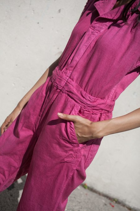 As Ever Sleeveless Zip Jumpsuit in Raspberry