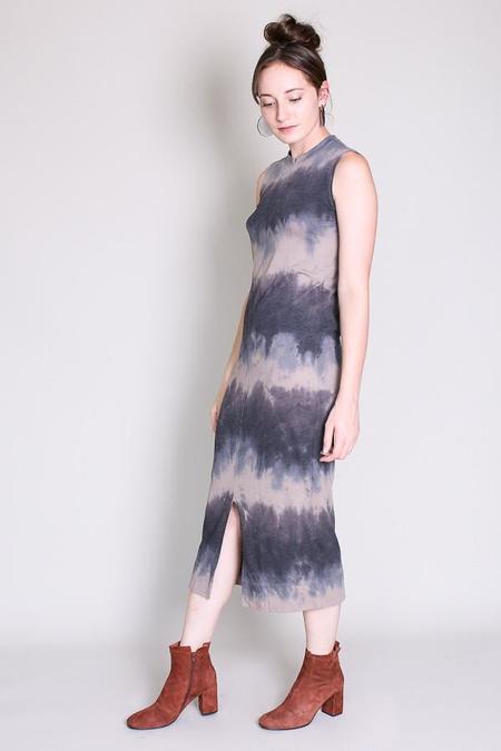 Raquel Allegra Split muscle tee dress in dusty clay