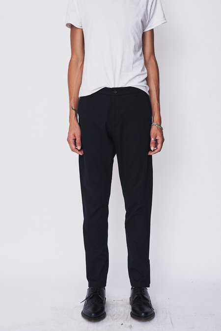 Assembly New York Twill Straight Skinny Trouser - Black