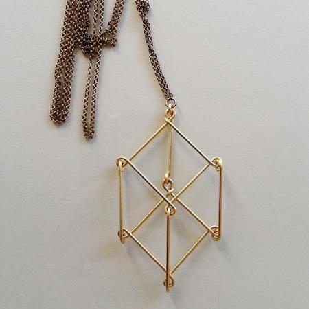 Hellbent 2D3D Cube Necklace