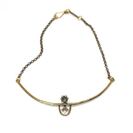 Laurel Hill Jewelry Arche Collar - Labradorite & Rose Quartz
