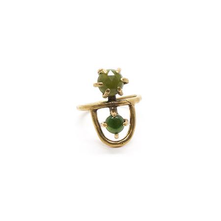 Laurel Hill Jewelry Arche Ring - Jade & Vessonite