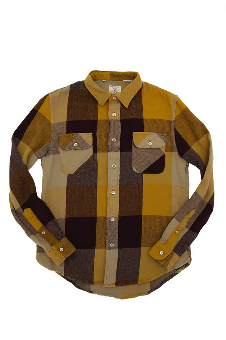 Levi's Vintage Clothing Shorthorn Flannel - Yellow/Brown