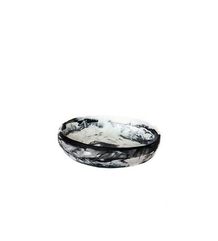 Dinosaur Designs Small Earth Bowl in Black + Snow Swirl